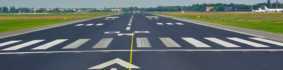 Runway am Flughafen